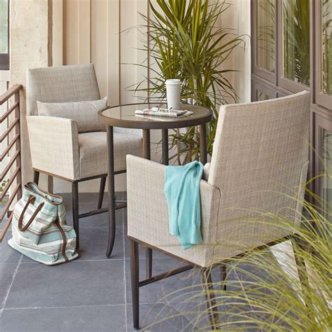 Balcony Bistro Set Patio Furniture Hton Bay 3 Balcony Patio Bistro Set Fcs80223ast The Home Depot