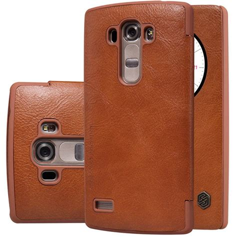 Lg G4 Beat Mini Nillkin Qin Leather Flip Cover Dompet Casing lg g4s h735 flip nillkin qin brown