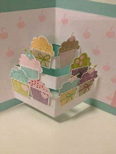 pop up cupcake card template 1000 images about cards folding techniques on