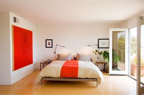 orange and white bedroom how to mix patterns appropriately