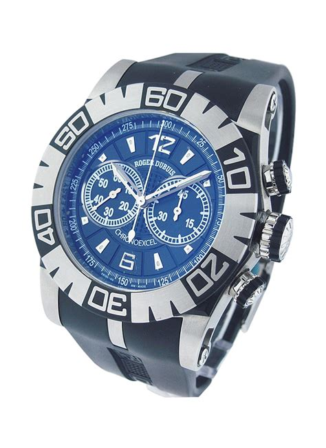 Roger Dubuis 2953 Silver White Black Leather Automatic rddbmg0005 roger dubuis la monagasque essential watches