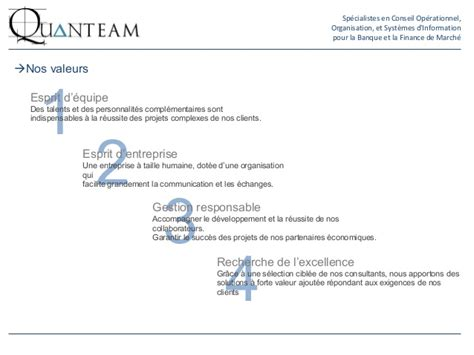 Cabinet De Conseil En Assurance by Pr 233 Sentation Quanteam Cabinet De Conseil En Banque