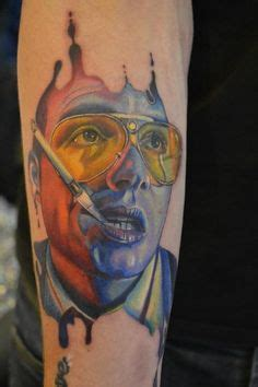 johnny depp raven tattoo richard s johnny depp in fear and loathing colour portrait
