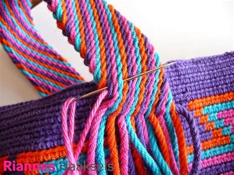 tutorial tas rajut tribal 163 best images about mochila look alike wayuu and