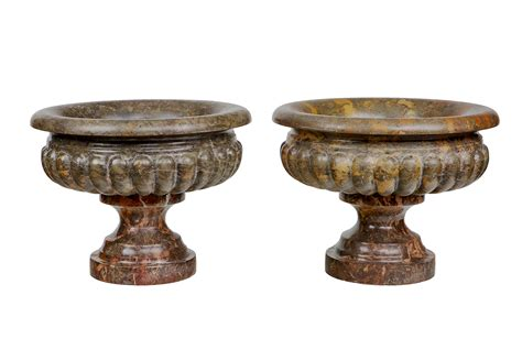 decorative objects for home 2672 pair of 19th century marble urns o sullivan