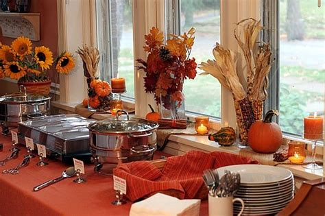 fall buffet table decorations easy fall decor
