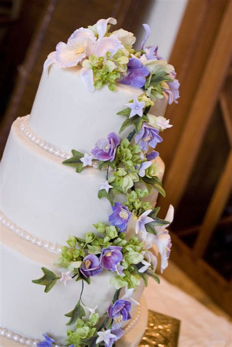 Sugar Flowers Wedding Cakes by Purple Orchid Sugar Flower Wedding Cake Cakecentral