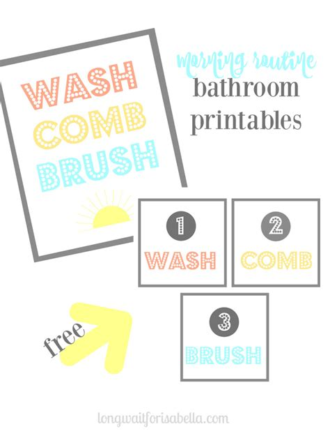bathroom routine printables the morning routine has to be quick