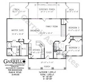 House Plans With Kitchen In Front Dogwood House Plan Active Adult House Plans