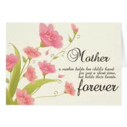 Mother S Day Card Messages Mother S Day Flowers And Message Greeting Card Zazzle