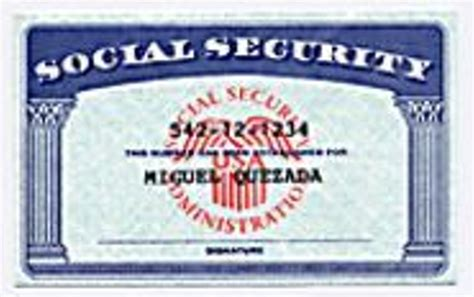 Blank Social Security Card Template by Blank Social Security Card Template