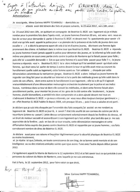 Exemple De Lettre Temoin D Exemple D Attestation De Bonne Mere