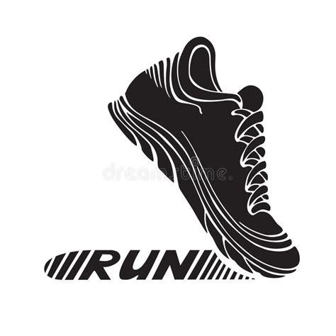 sport shoes vector running sport shoe symbol stock illustration