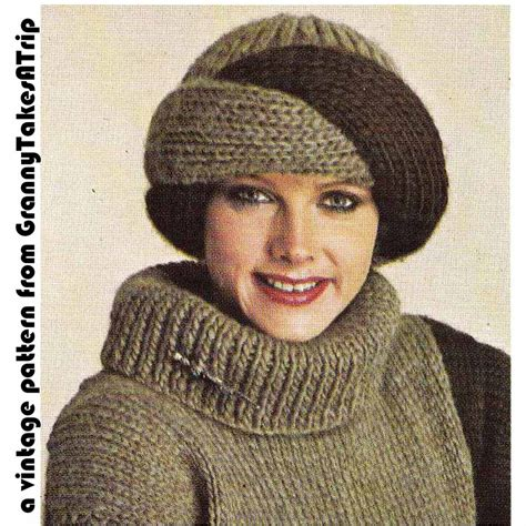 how to knit a turban hat 1970s 80s vintage knitting patternturban style by