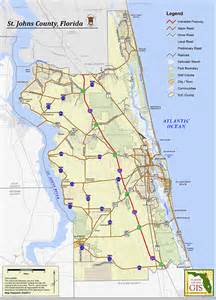 map of st johns county florida maps
