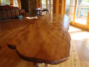 Natural Wood Dining Room Tables by Natural Wood Table Unusual Shape Rustic Dining Tables