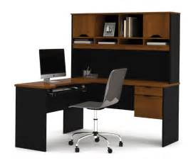 Desk L Shaped Bestar Innova Tuscany Brown L Shaped Computer Desk 92420 63
