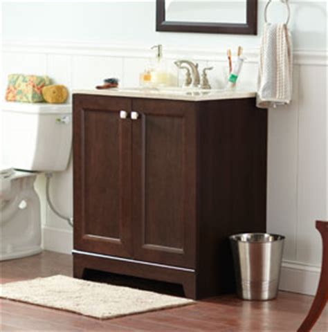 installation of a bathroom vanity cabinet at the home depot