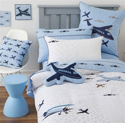 airplane toddler bedding flying square cushion bedding boys kids airplane planes