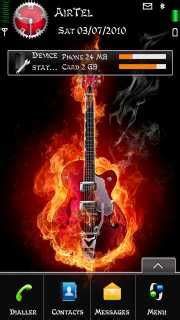 mobile themes music download fired guitar nokia theme nokia theme mobile toones