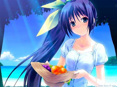 anime girl summer wallpaper summer fruits anime girls wallpapers theanimegallery com