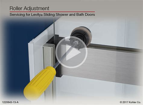 Kohler Shower Door Rollers Roller Adjustment For Levity 174 Sliding Shower And Bath Doors