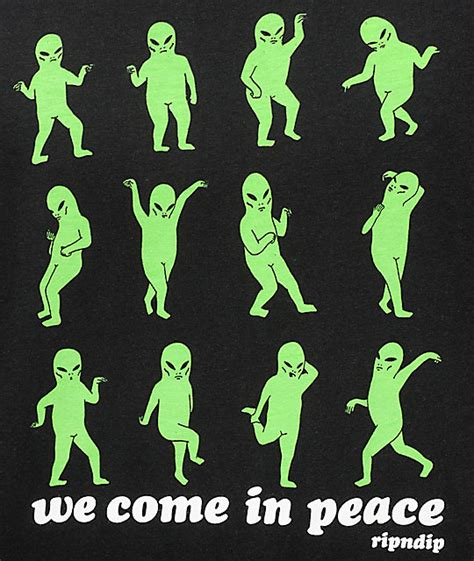 Tshirt Black Choose Peace ripndip we come in peace black t shirt zumiez