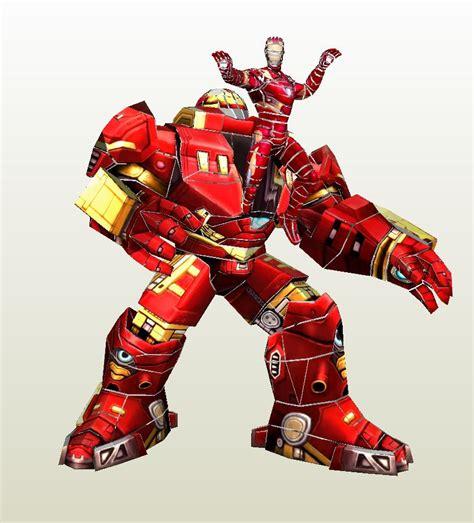 Papercraft Ironman Helmet - iron hulkbuster pepakura eu