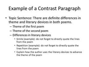 Theme In Literature Essay by Compare And Contrast Essay Exle Ppt