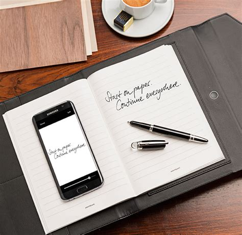 Paper Technology - montblanc blends writing on paper and technology launching