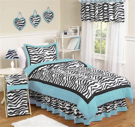 Zebra Bedding Sets Blue Zebra Bedding Comforter Set For 4pc Bed In