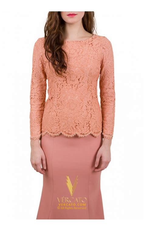 Baju Kurung Moden Lace baju kurung moden lace vercato daly in pink