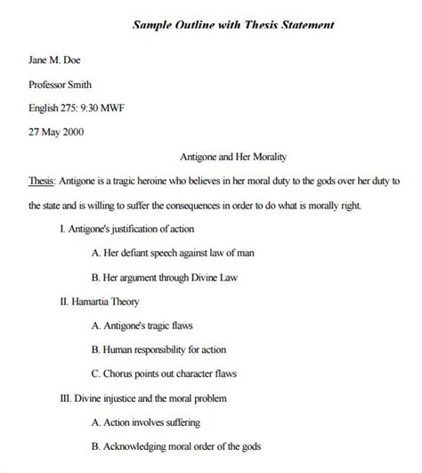 essay outline template mla format sle mla outline template 10 free documents in pdf word