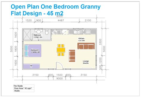 Floor Plan Of One Bedroom Flat | granny flat building plans south africa with 1 bedroom