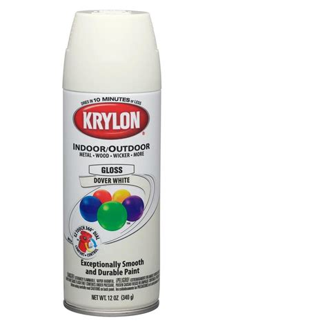 dover white spray paint shop krylon 12 oz dover white gloss spray paint at lowes