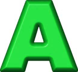presentation alphabets green refrigerator magnet a