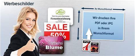 Werbeschild Drucken Online by Werbeschilder Drucken Online Und G 252 Nstig Gestalten