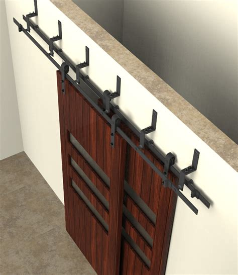 hanging doors on tracks bypass sliding barn wood door hardware interior sliding