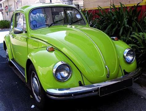 green volkswagen lime green beetle car