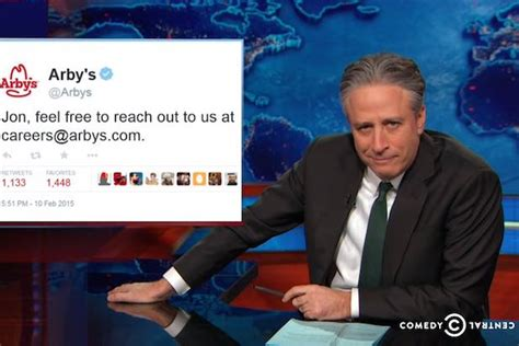 Jon Stewart Mocks Arby's for Job Offer: 'Come for the ... Arby S Menu