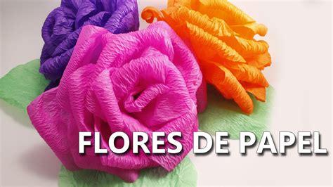 como hacer flores de papel crepe faciles y bonitas youtube como hacer flores de papel crepe grandes f 225 ciles y
