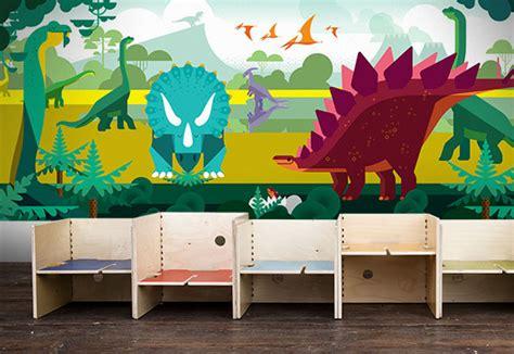 Wall Mural Poster decoraci 243 n dinosaurios papel pintado infantil murales