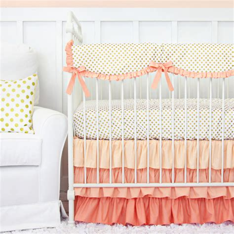coral baby bedding giveaway crib bedding from caden project nursery