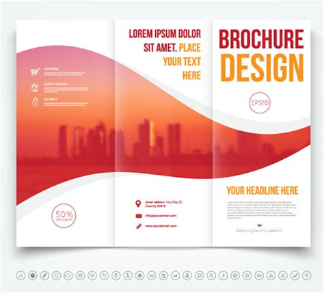 brochure tri fold cover template vectors design 05