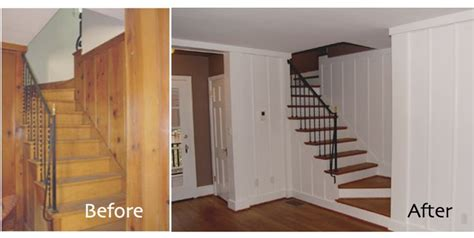 wood paneling makeover before and after white painted wood paneling for basement flats real