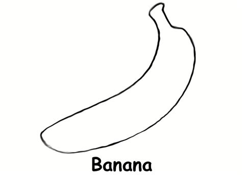 banana coloring page free printable coloring pages banana coloring pages print coloring home