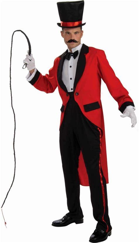 mens ringmaster costume ringmaster circus lion tamer fancy dress uniform costume