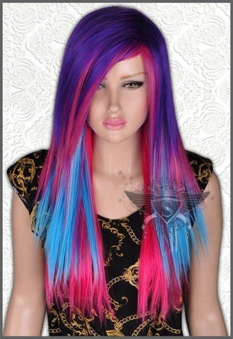 colored wigs au211 charming multi color