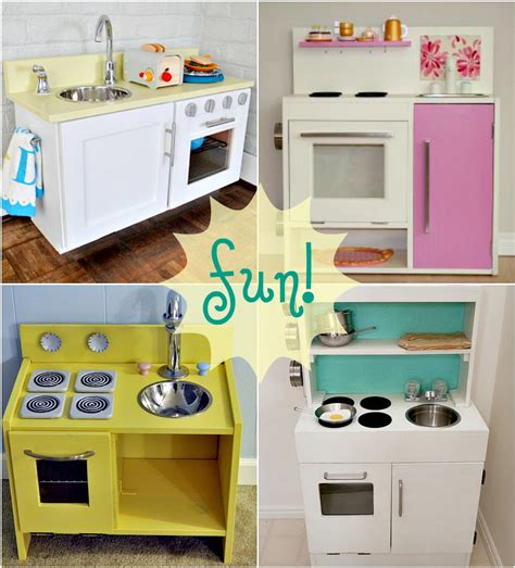 diy play kitchen ideas ikea hacks play kitchen house furniture