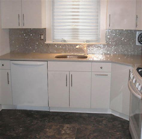 stainless steel kitchen backsplash tiles going modern with a stainless steel backsplash subway tile outlet